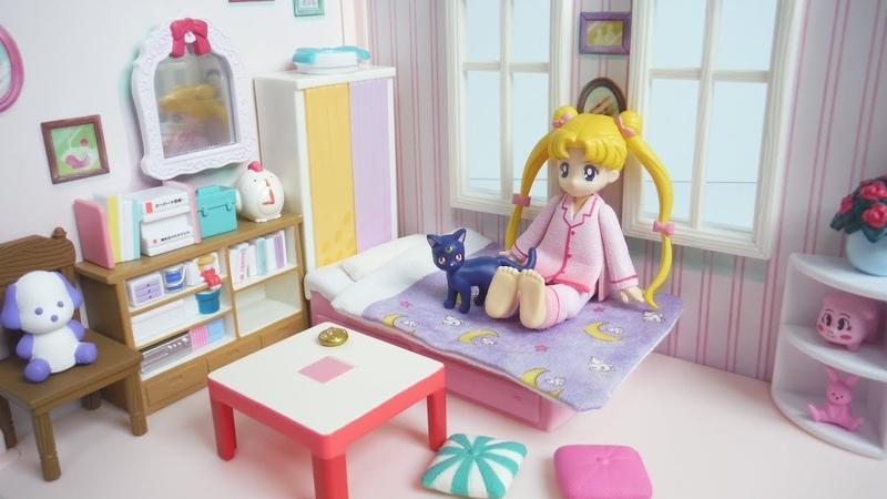 美少女戦士セーラームーン うさぎちゃんのお部屋 Sailor Moon Usagi's Room Mini Figure プレミア 12