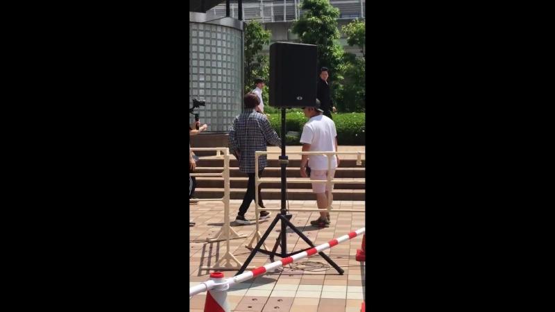 [2018.06.09] Kim Hyun Joong Take My Hand Handshake Event at Minatomachi River Place OsakaHJ has arrived at the venue