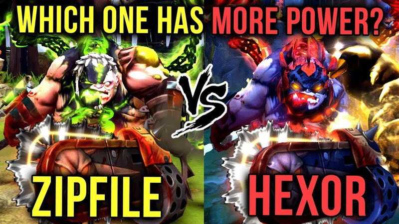 Which Arcana is More POWERFUL Green vs Red Pudge Arcana Battle Zipfile vs hexOr Dota 2