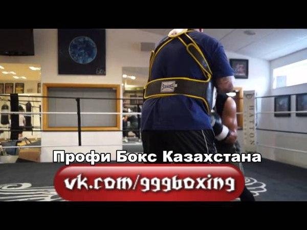Жанат Жакиянов Тренировка на лапах Zhanat Zhakiyanov