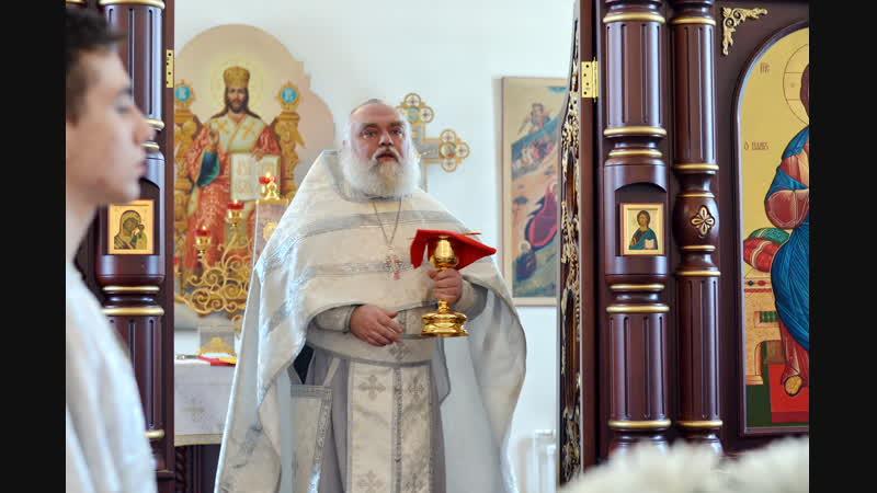 Поздравление Патриарха с Рождеством Христовым,зачитанное о.Игорем