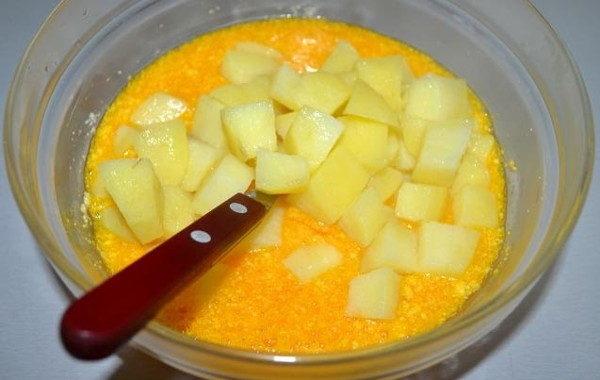Омлет с картофелем в духовке, изображение №7