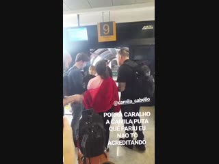 Camila at the airport in curitiba, brazil