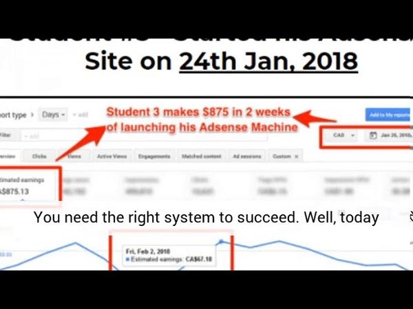 Google Adsense Machine Make recurring monthly income