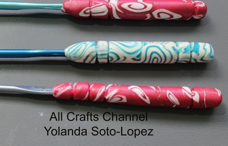 How to make polymer clay covered crochet hooks
