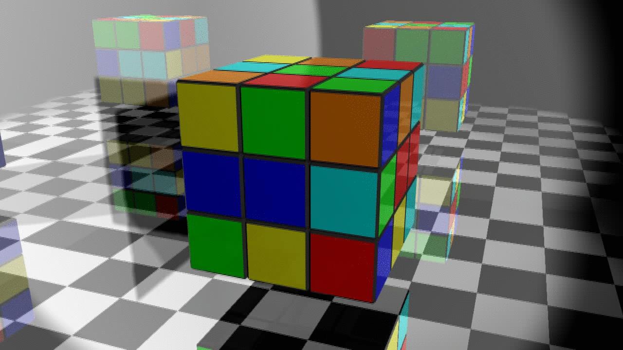 Сборка кубика рубика гифка