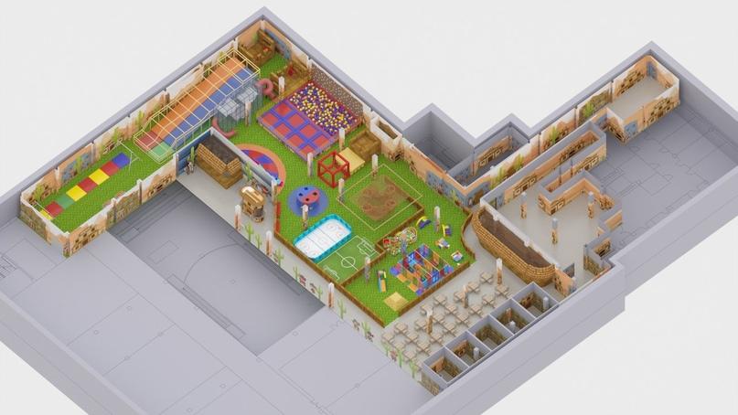 Визуализация помещения парка