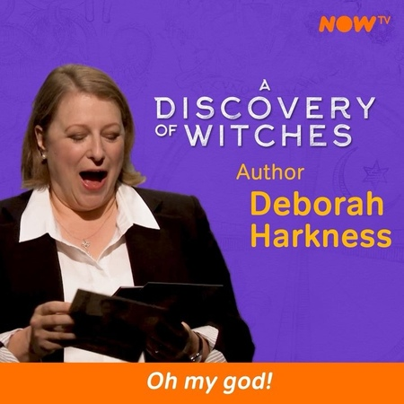 """NOW TV on Instagram: """"We were lucky enough to have a Q&A with @debharkness it was spellbinding 🧙🏻♀️🧛♂️ . ADiscoveryofWitches @teresapalmer a"""