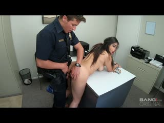 Gabriela lopez runs from the cops and gets fucked as punishment