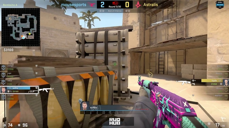 Xyp9x clutch 1x3 vs mousesports at the ESL Pro League S8 Odense lan Finals