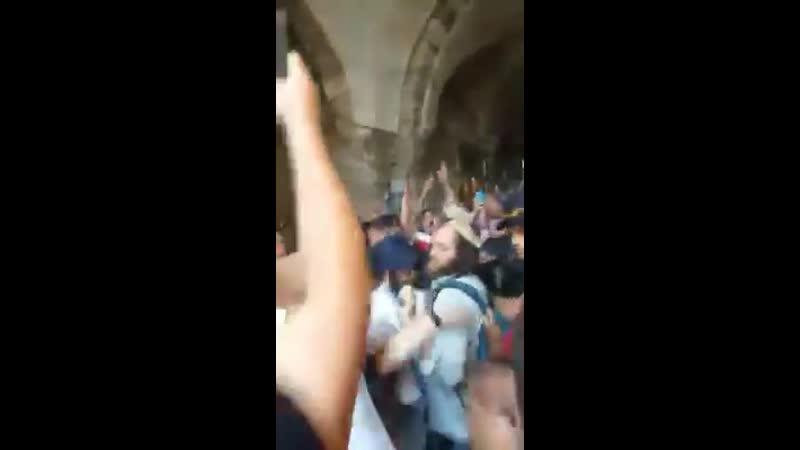 Стычки арабов, празднующих Ид Аль-Адха и религиозных сионистов, которые хотели подняться на Храмовую гору.