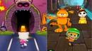 ГОВОРЯЩИЙ ТОМ ПОГОНЯ ГЕРОЕВ VS Бег за золотом VS Garfield Rush новые миссии Серия 7