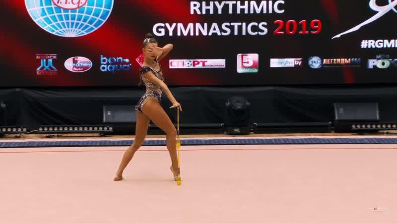 Дина Аверина - булавы (многоборье) Этап Кубка Мирового Вызова 2019, Минск