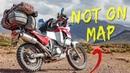 RIDING UNKNOWN BOLIVIAN TRAIL - Honda Transalp Adventure Motorcycle