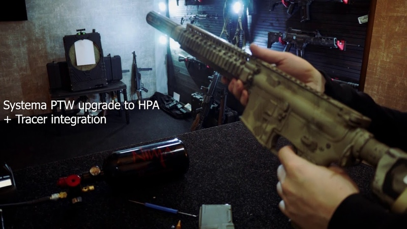 Airsoft Systema PTW upgrade to HPA Tracer integration