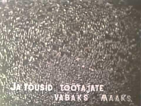 Estonian SSR Anthem 1945(BlackWhite With Subtitles) Eesti NSV Hümn