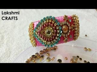 Elegant Silk Thread Bangles Making With Designer Kundans
