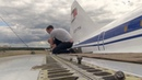 The dismantling of the wings of the Tu-144