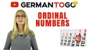 Day 129 - German to go - Ordinal numbers and dates (explanation exercises) / Ordinalzahlen Daten