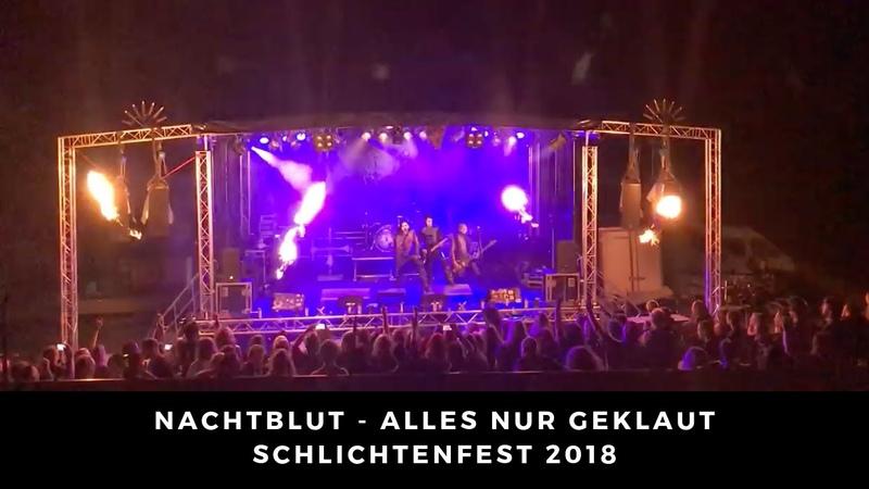 Nachtblut Alles nur geklaut Live 04 08 2018 Schlichtenfest Ottobeuren