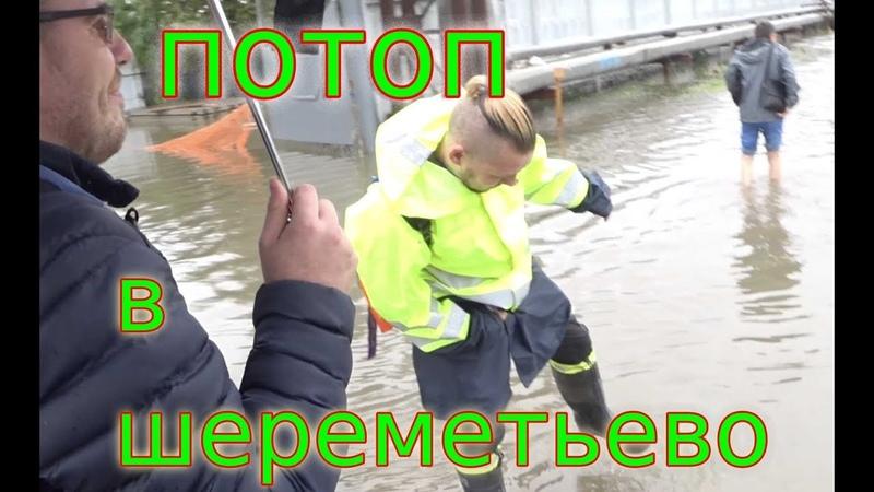 Потоп в Шереметьево, Шатл между терминалами D и B, русские дороги