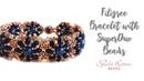 Filigree Bracelet With SuperDuo Beads Beading Tutorial