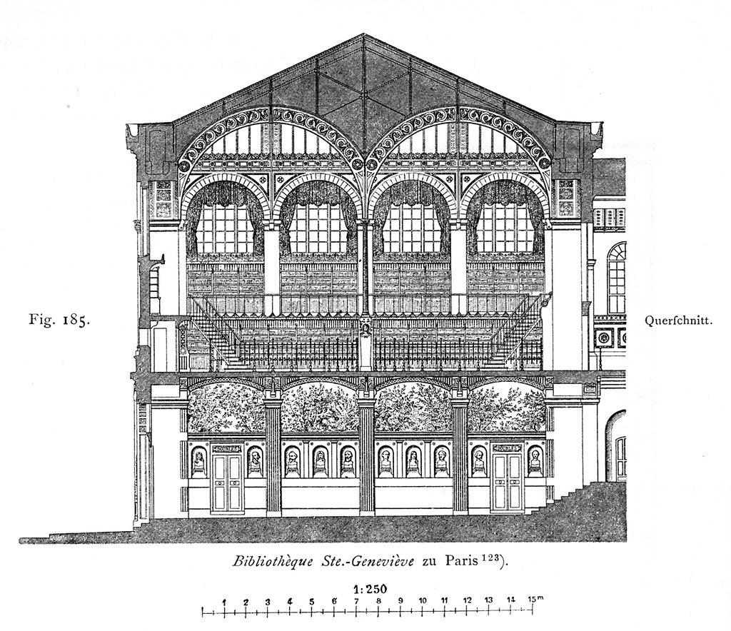 «Чугунная» архитектура библиотеки Святой Женевьевы
