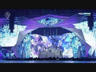 181106 bts x charlie puth we dont talk anymore + fake love @ 2018 mbcplus x genie music awards
