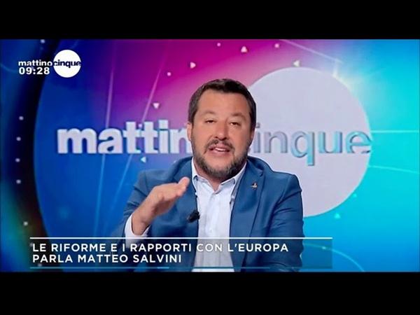 MATTEO SALVINI OSPITE A MATTINO 5 06 06 2019
