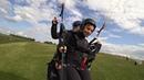 Света Хрущева-демо (первый ) полет на параплане -оськино