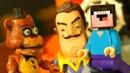 НУБик Голова Кубик и БОРЬКА Мультики Лего Майнкрафт и Пять Ночей с Фредди - FNAF и LEGO Minecraft