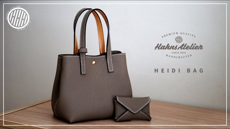[Leather Craft] Heidi bag making / Hermes leather / DIY / Pattern available