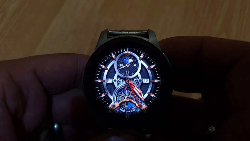 MECHANIC Animated WW30 multilang multicolor watchface for Samsung Gear Samsung Galaxy watch