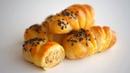 Пирожки с мясом Рецепт песочно дрожжевого теста без яиц Вариант 2
