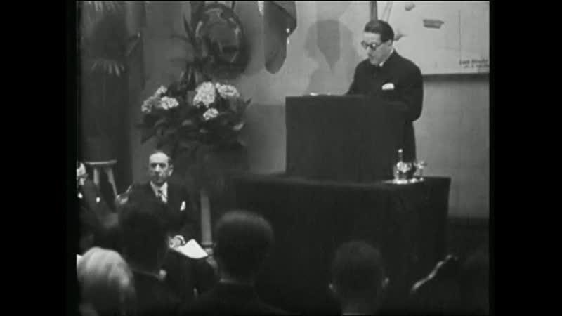 Document historique du 23 mai 1941 L'Inauguration de L'insttitut des Questions Juives