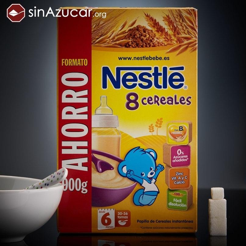 Детская каша Nestle «8 злаков».