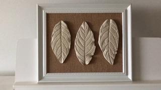 Casting Leaves/Gypsum Leaves/Autumn Home Decor/Tutorial