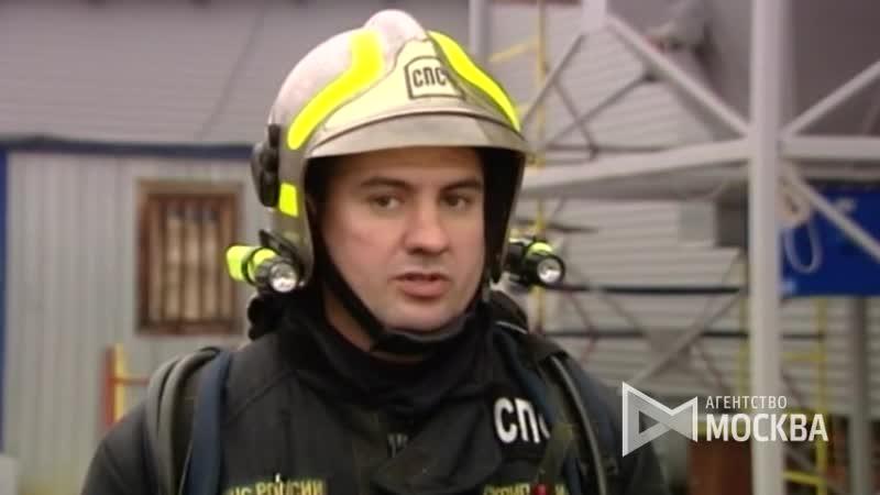 Начальник реутовского пожарно-спасательного гарнизона И.Скрипай о ликвидации возгорания на складе