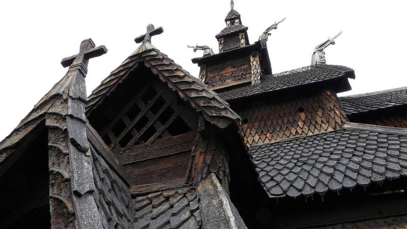 Норвегия: Ставкирка в Боргунде/Norway: Borgund Stave Church