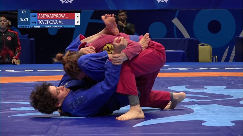 Round 2 Womens GP GI - 58 kg E. ABDYKADYROVA (KGZ) v. M. TCVETKOVA (RUS)