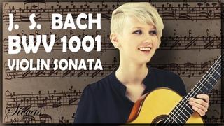 Bach - Violin Solo Sonata No.1 BWV 1001 - ONE PIECE AND FOUR GUITARISTS