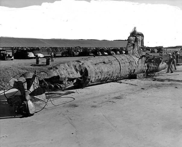 Японская сверхмалая подводная лодка Тип А участвовавшая в атаке на Пёрл-Харбор 7-го декабря 1941-го года Данная лодка была потоплена американским эсминцем USS Monaghan (DD-354) после неудачной