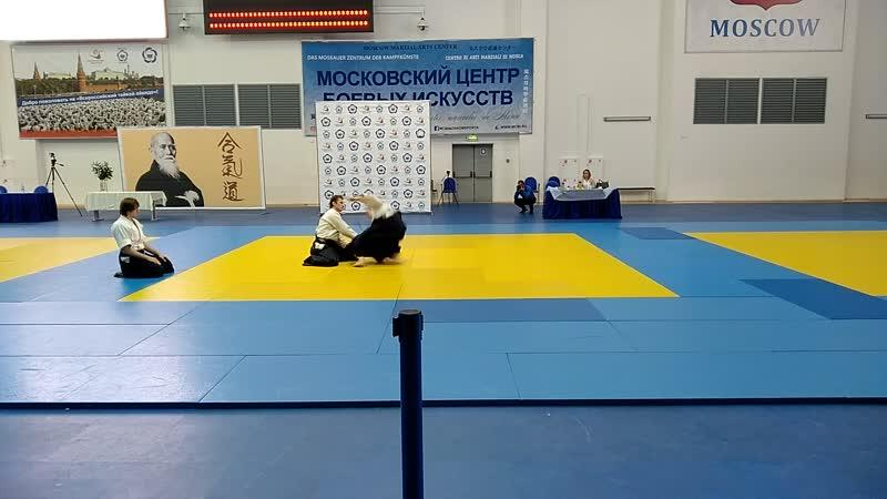 Эмбу Цапаева Дмитрия Борисовича (5 дан айкидо Айкикай) на Втором Всероссийском Тайкае Айкидо