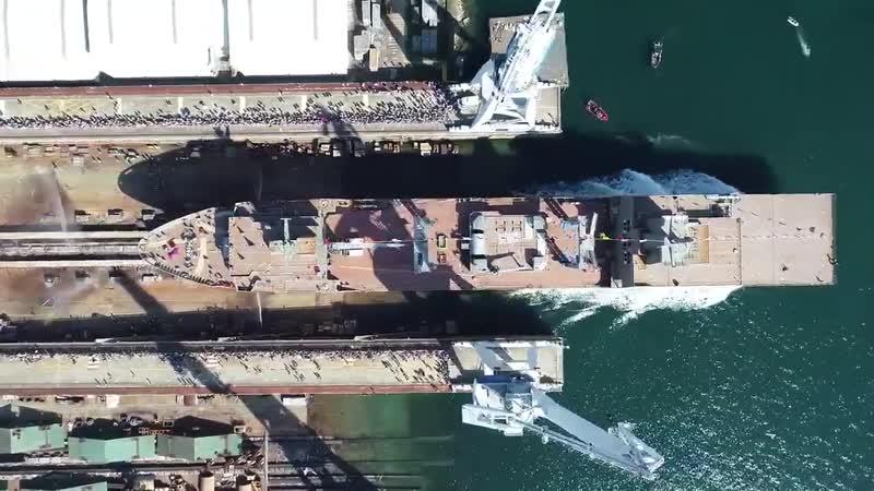 Спуск на воду корабля снабжения HMAS Stalwart