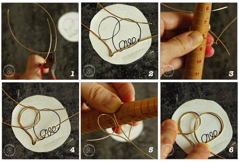 Как сделать проволочную подвеску-сердечко, изображение №4