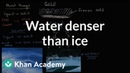 Liquid water denser than solid water (ice) | Biology | Khan Academy