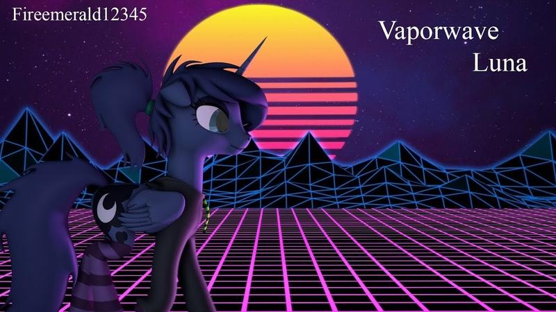[SFM Ponies] Vaporwave Luna