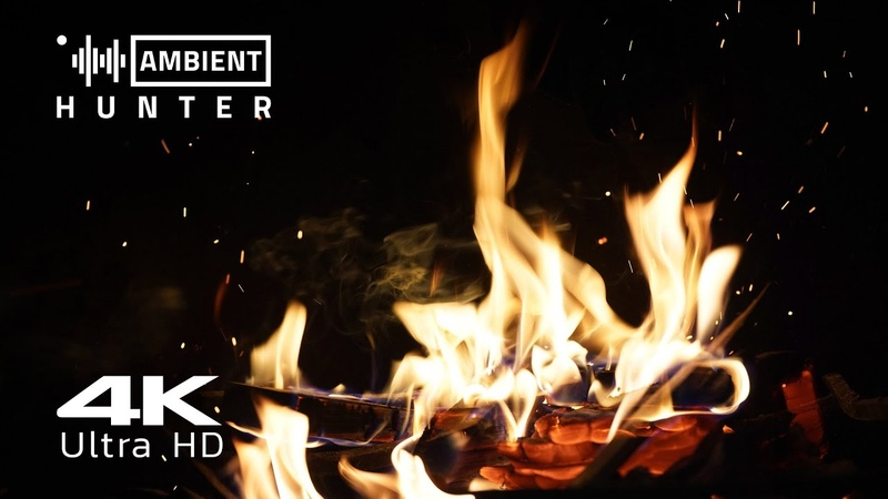 🔥 Fireplace With Crackling Fire Sounds - 4 Hours of UltraHD 🔥