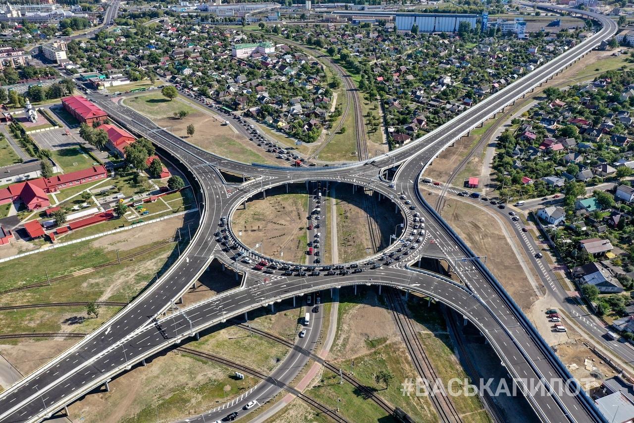 Открыто движение по новому путепроводу Западного обхода Бреста (монолитное кольцо)