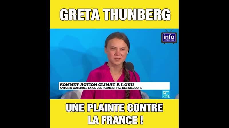 Le discours de l'activiste Greta Thunberg à la tribune de l'ONU